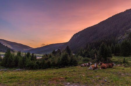 Sonnenuntergang im Zillertal