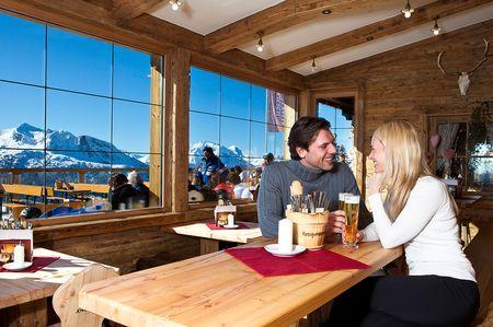 Hütte mit Panoramablick